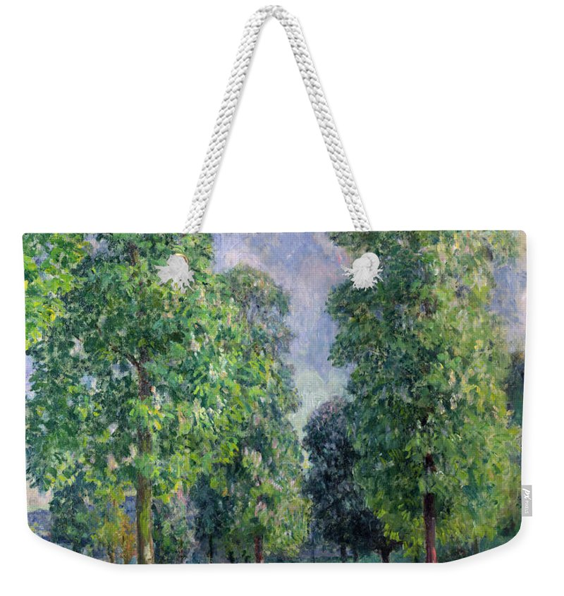 Landscape Weekender Tote Bag featuring the painting Landscape At Sevres by Alfred Sisley
