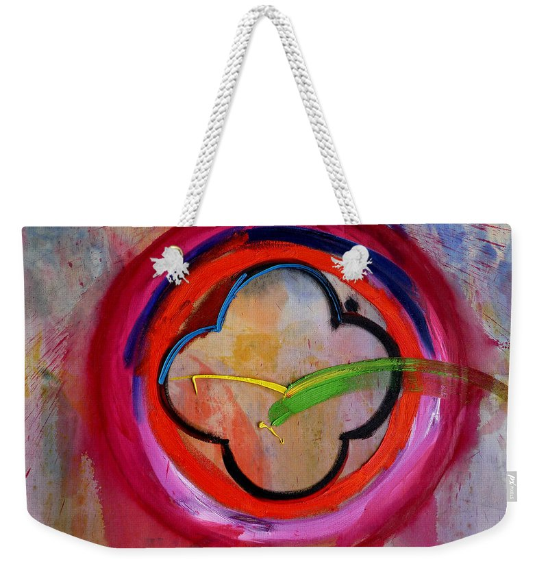 Landscape Weekender Tote Bag featuring the painting Landscape by Charles Stuart