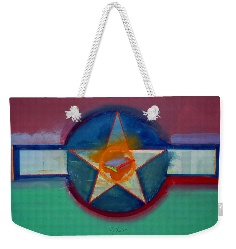 Star Weekender Tote Bag featuring the painting Landscape In The Balance by Charles Stuart