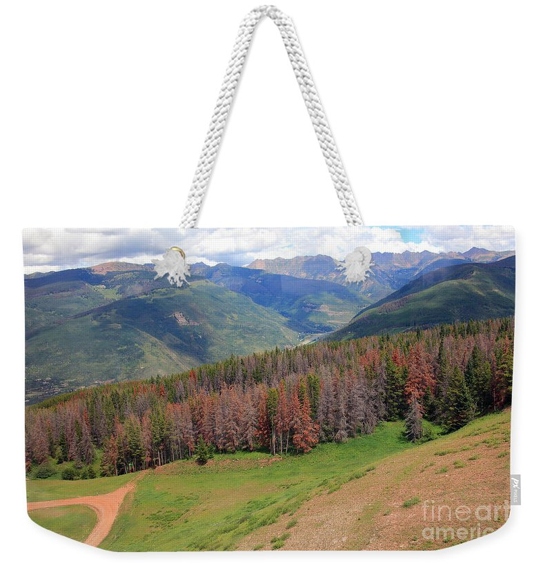 Trees Weekender Tote Bag featuring the photograph Landscape In Vail by Madeline Ellis