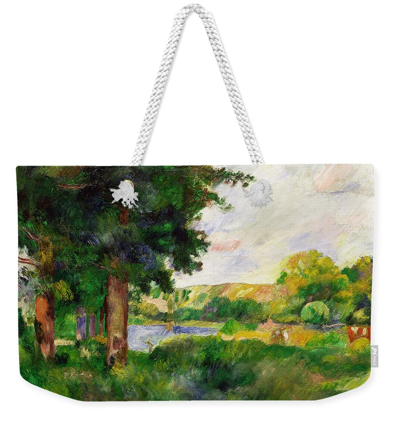 Landscape Weekender Tote Bag featuring the painting Landscape by Paul Cezanne