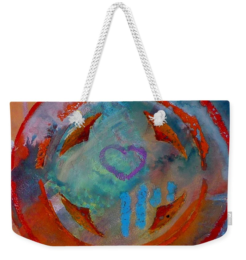 Love Weekender Tote Bag featuring the painting Landscape Seascape by Charles Stuart