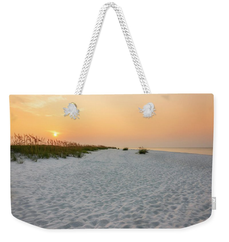 Pensacola Beach Florida Weekender Tote Bag featuring the photograph Langdon Beach Sunrise 5 - Pensacola Beach Florida by Brian Harig