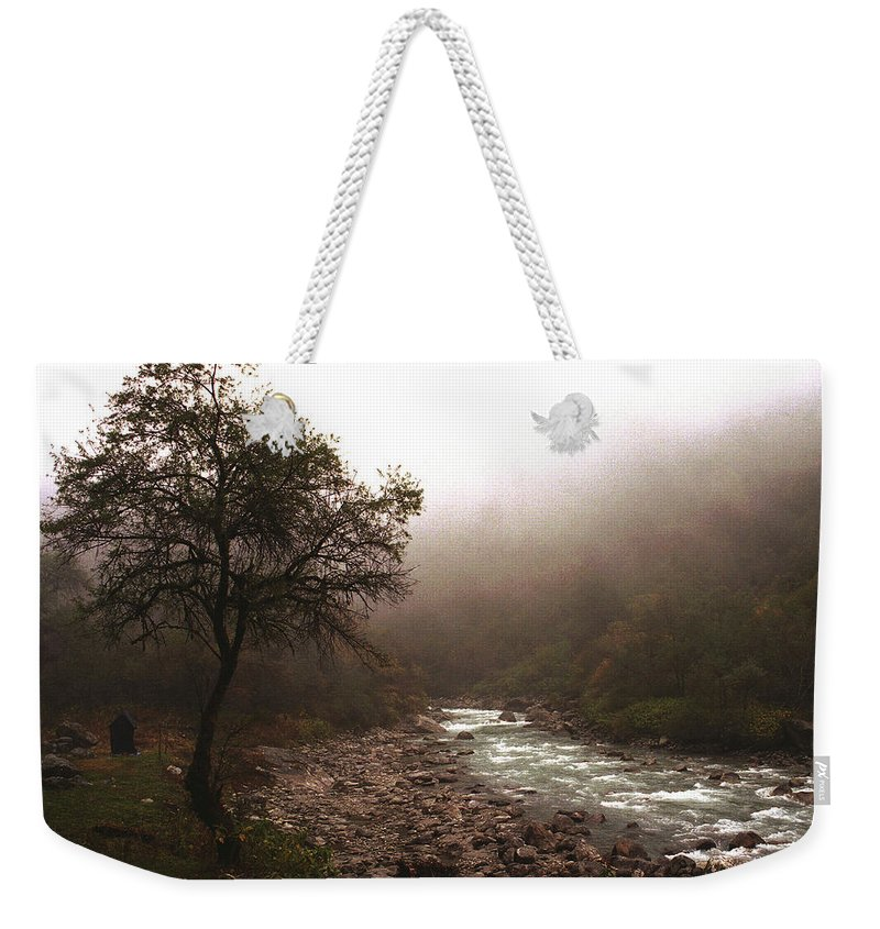 Tree Weekender Tote Bag featuring the photograph Langtang Morning by Patrick Klauss