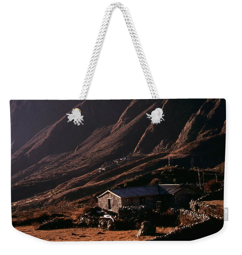 Langtang Weekender Tote Bag featuring the photograph Langtang Village by Patrick Klauss