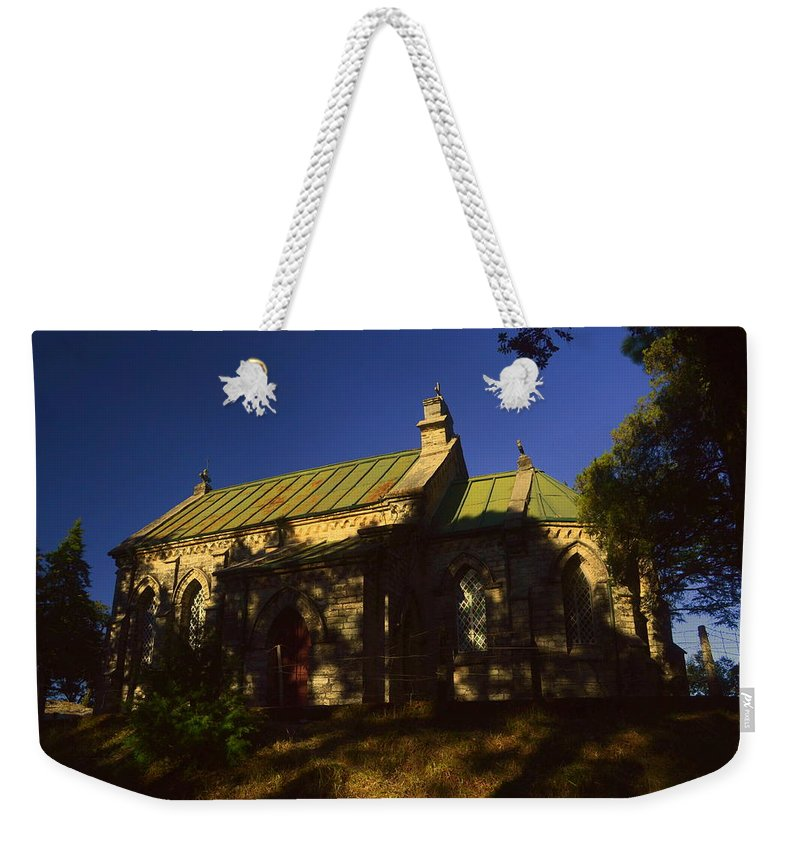 Wallpaper Art Print Phone Case T-shirt Beautiful Duvet Case Pillow Tote Bags Shower Curtain Greeting Cards Mobile Phone Apple Android Lansdowne Church Old Building Cross Christian Photography  Weekender Tote Bag featuring the photograph Lansdowne Church 4 by Salman Ravish