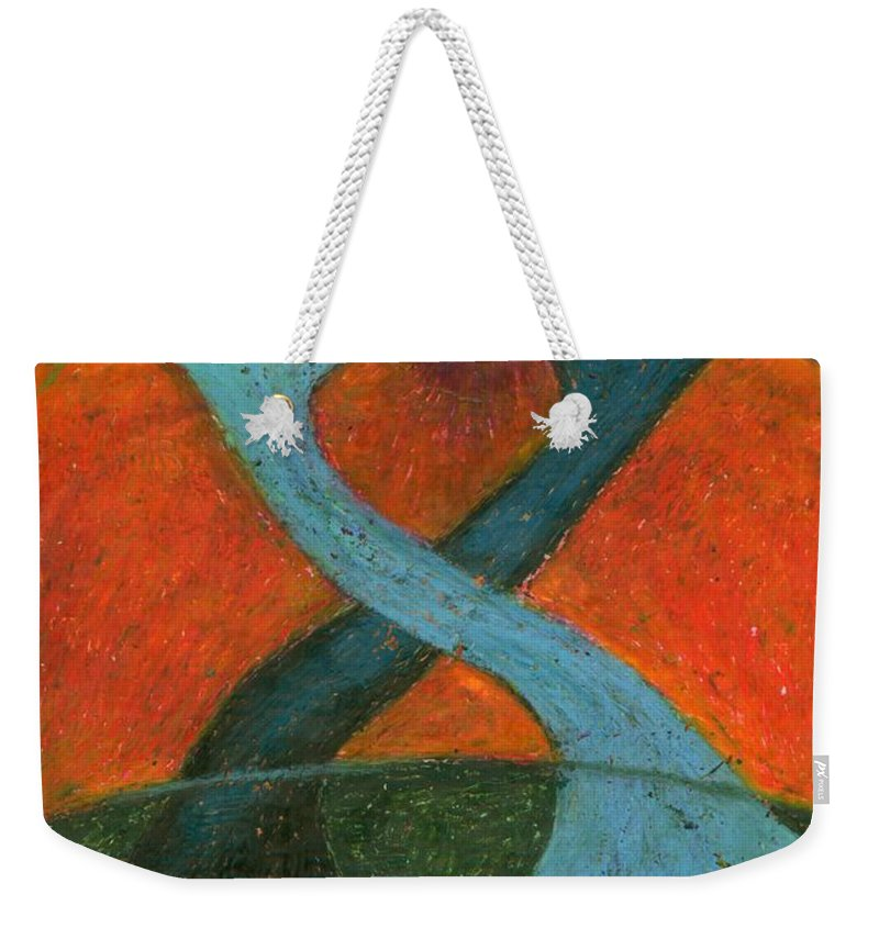 Colour Weekender Tote Bag featuring the painting Lapse by Wojtek Kowalski