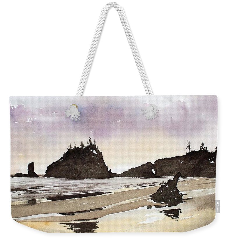 Washington Weekender Tote Bag featuring the painting Lapush by Gale Cochran-Smith