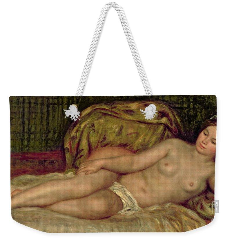 Renoir Weekender Tote Bag featuring the painting Large Nude 3 by Pierre Auguste Renoir