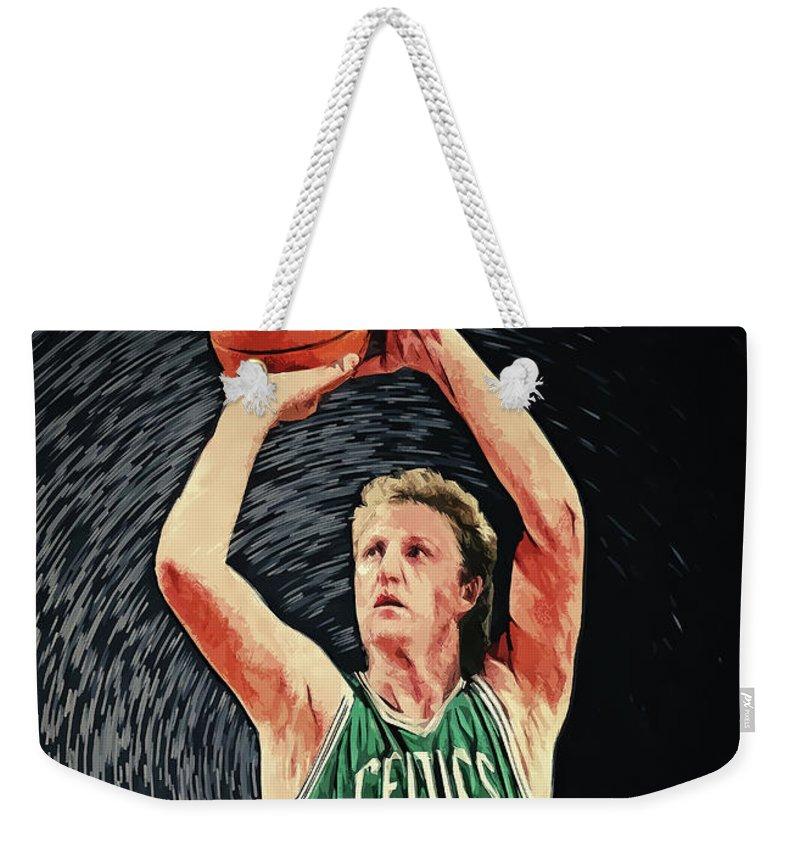Larry Bird Weekender Tote Bags