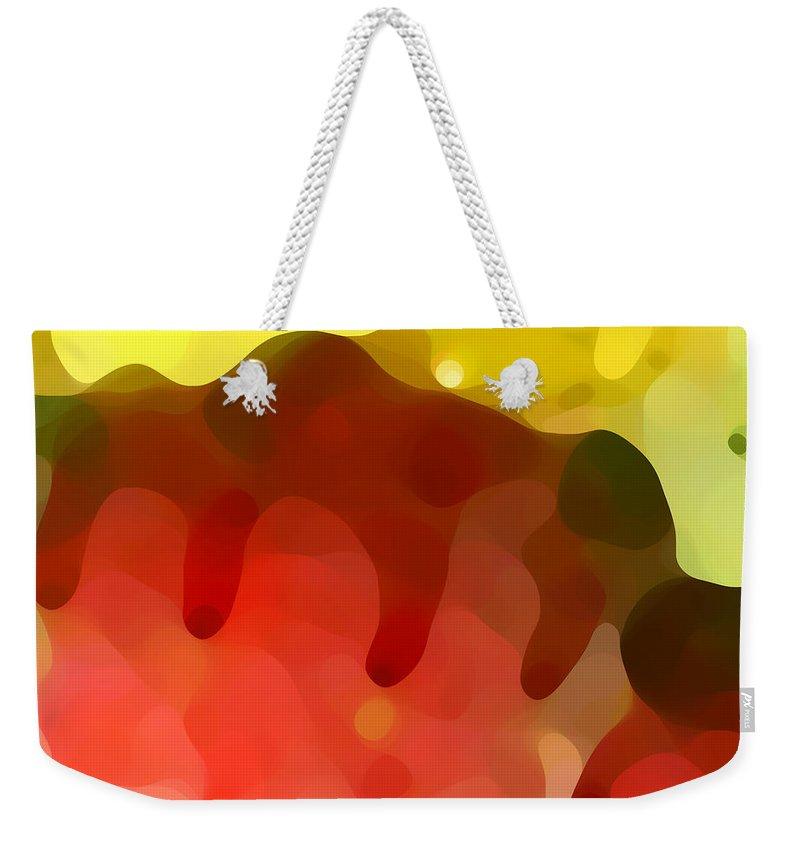 Abstract Weekender Tote Bag featuring the painting Las Tunas Ridge by Amy Vangsgard