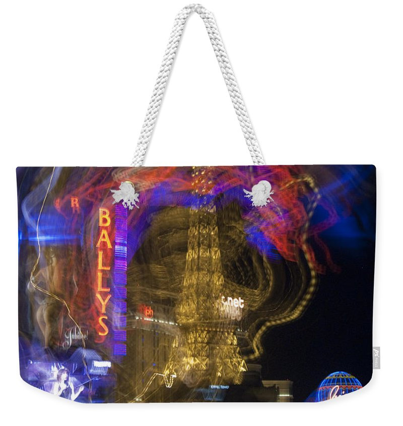 Bally Weekender Tote Bag featuring the photograph Las Vegas Strip 2224 by Bob Neiman