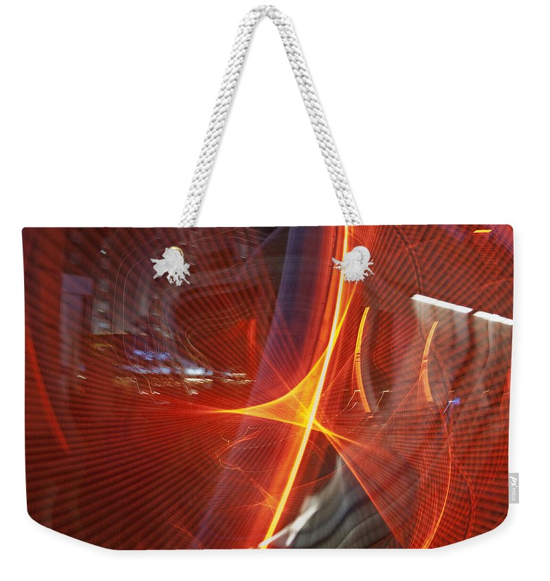 Red Weekender Tote Bag featuring the photograph Las Vegas Strip 2272 by Bob Neiman