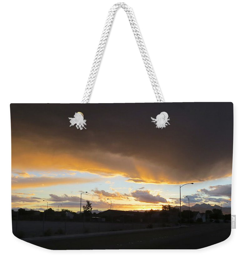 Nature Weekender Tote Bag featuring the photograph Las Vegas Sunset 2 by Carl Deaville