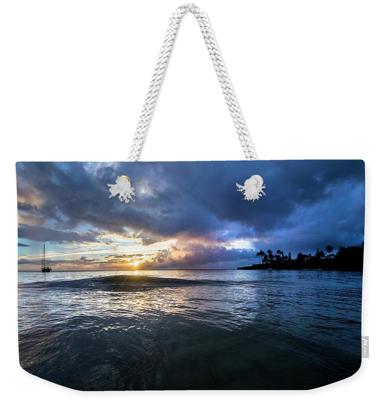Sunset Weekender Tote Bag featuring the photograph Last Call by Sean Davey