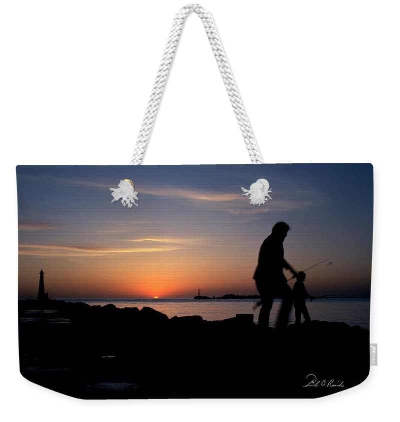 Color Weekender Tote Bag featuring the photograph Last Catch Of The Day by Frederic A Reinecke