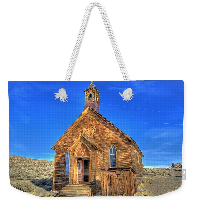 Bodie Weekender Tote Bag featuring the photograph Last Church Standing by Donna Kennedy