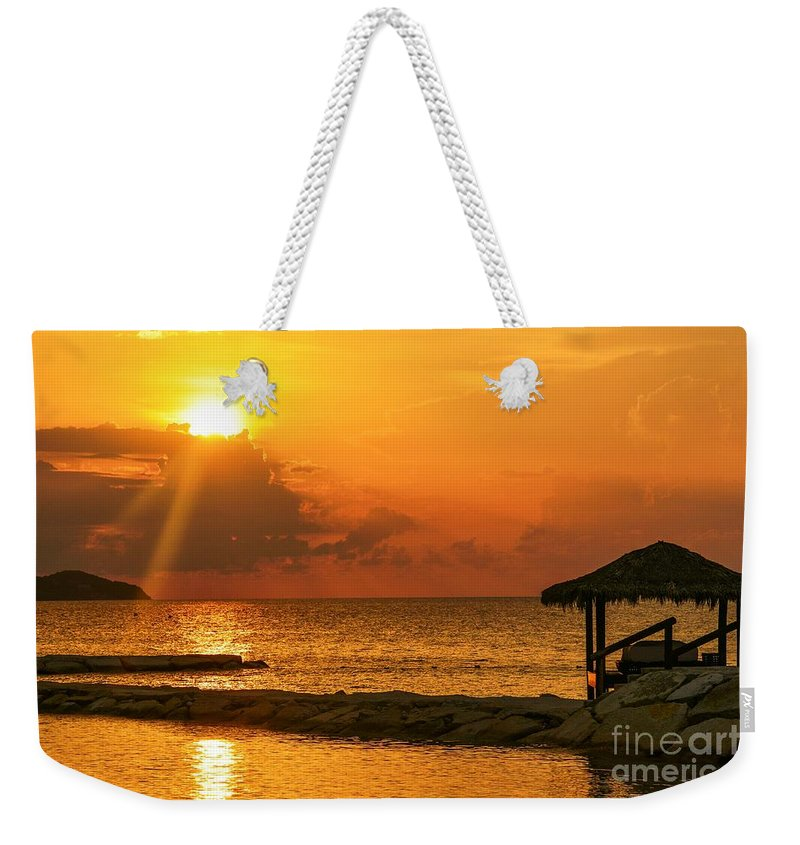 Sky Weekender Tote Bag featuring the photograph Last Curtain Call by Lisa Kilby