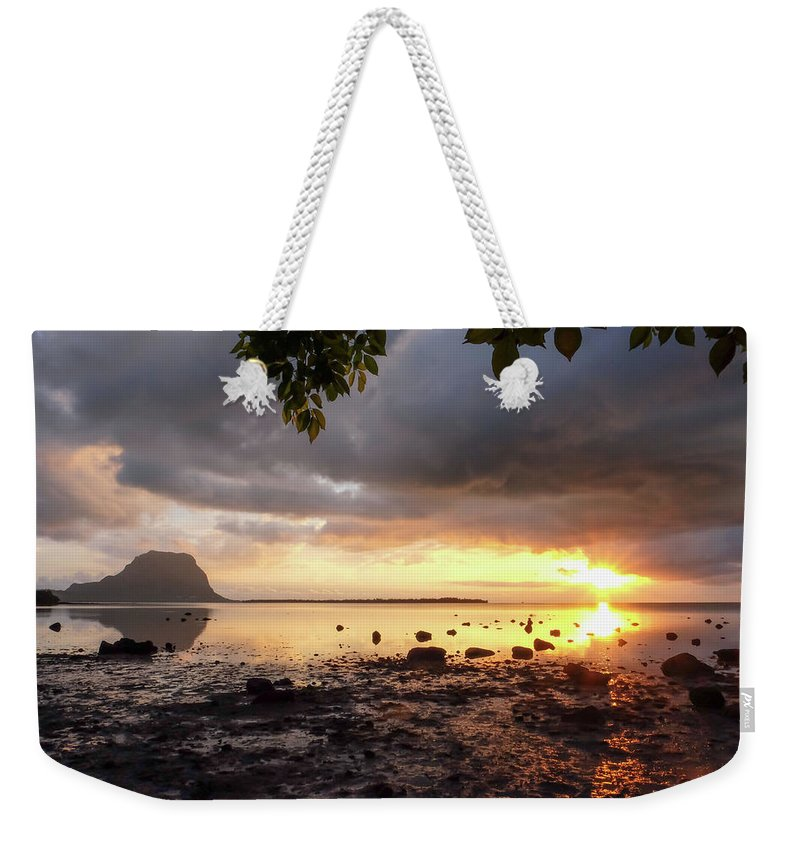 Sunset Weekender Tote Bag featuring the photograph Last Glow by Clic- Cat