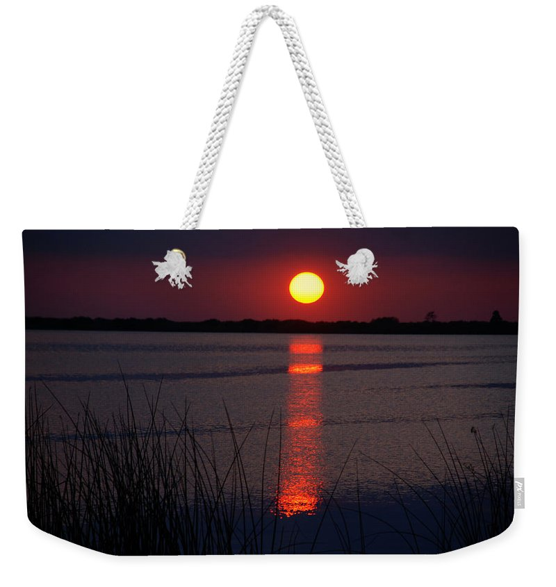 Sunset Weekender Tote Bag featuring the photograph Last Minutes Of The Day by Susanne Van Hulst