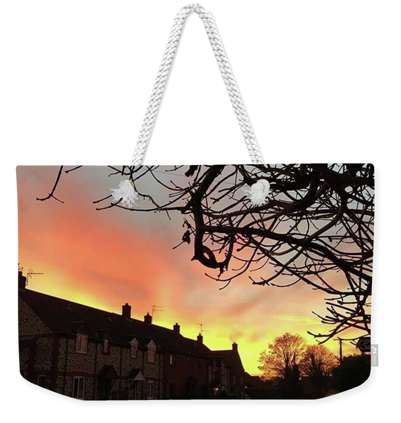Natureonly Weekender Tote Bag featuring the photograph Last Night's Sunset From Our Cottage by John Edwards