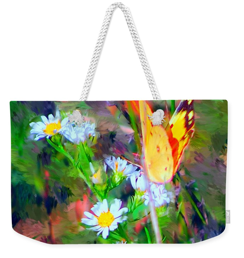 Landscape Weekender Tote Bag featuring the painting Last Of The Season by David Lane