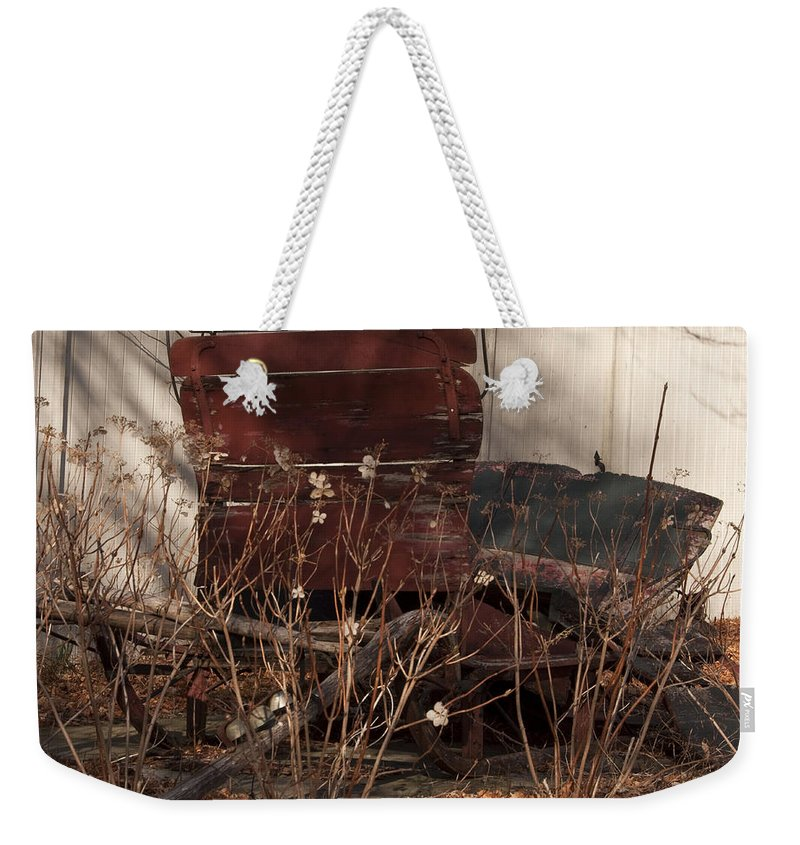 Sleigh Weekender Tote Bag featuring the photograph Last Ride by Steven Natanson