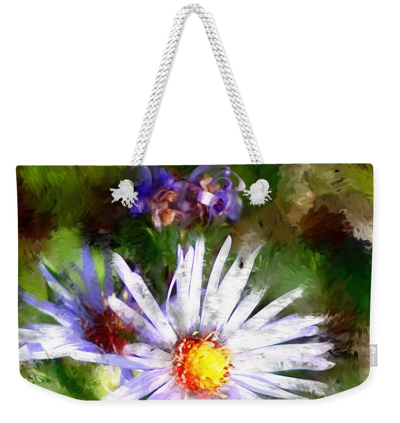 Flower Weekender Tote Bag featuring the photograph Last Rose Of Summer by David Lane