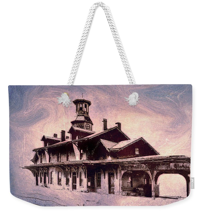 Consciousness Weekender Tote Bag featuring the photograph Last Stop Blues... by Arthur Miller
