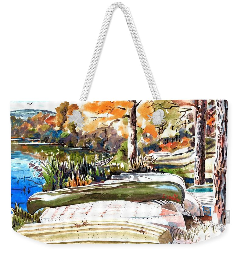 Last Summer In Brigadoon Weekender Tote Bag featuring the painting Last Summer In Brigadoon by Kip DeVore