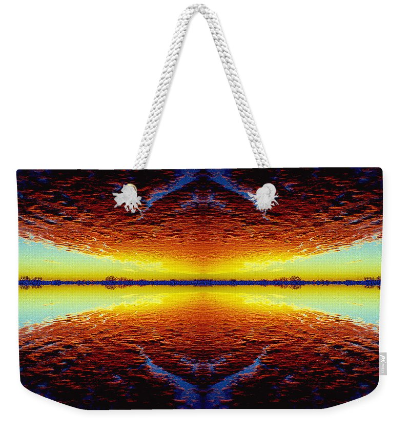 Sunset Weekender Tote Bag featuring the photograph Last Sunset by Nancy Mueller