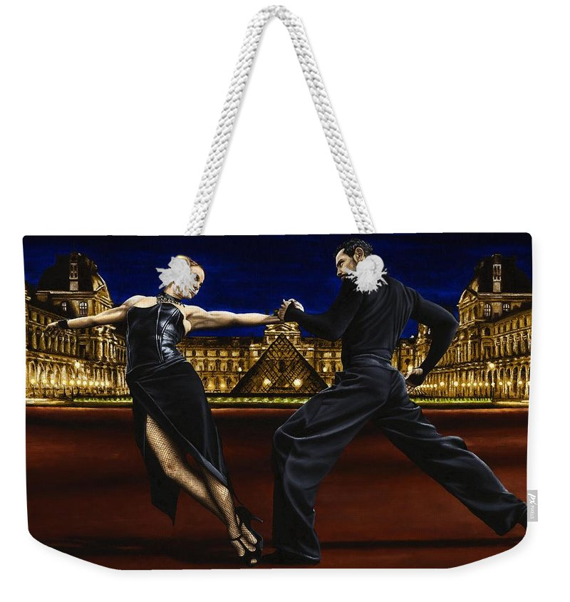 Tango Weekender Tote Bag featuring the painting Last Tango in Paris by Richard Young