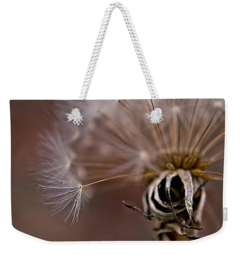 Puff Weekender Tote Bag featuring the photograph Last Wish by Valerie Cartier