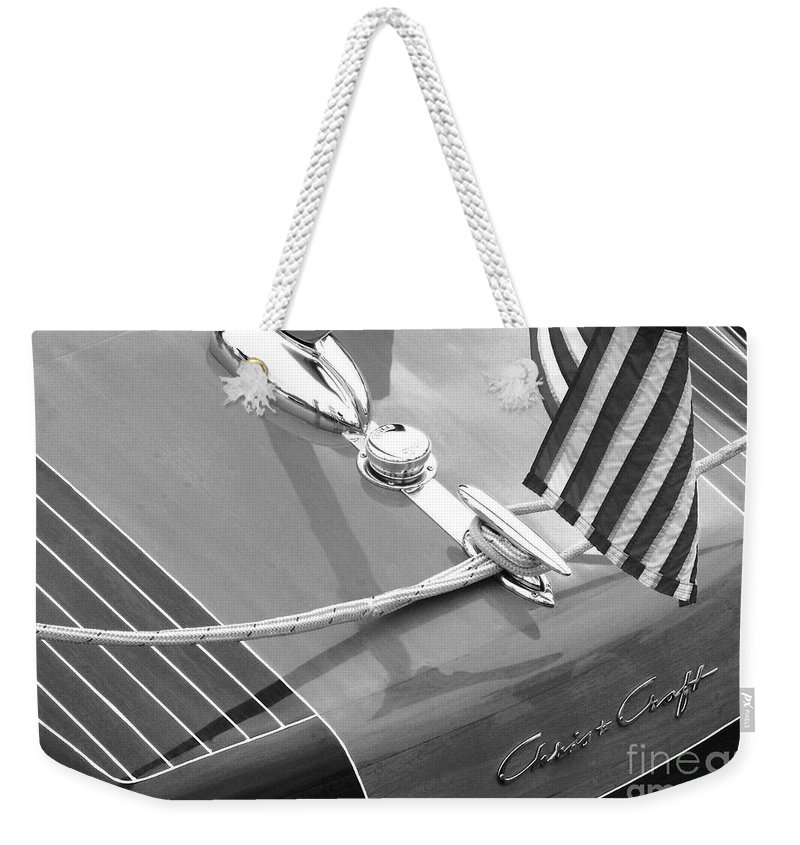Chris Craft Weekender Tote Bag featuring the photograph Late 1940's Chris Craft Custom by Neil Zimmerman