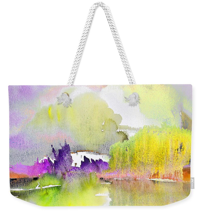 Watercolour Weekender Tote Bag featuring the painting Late Afternoon 02 by Miki De Goodaboom