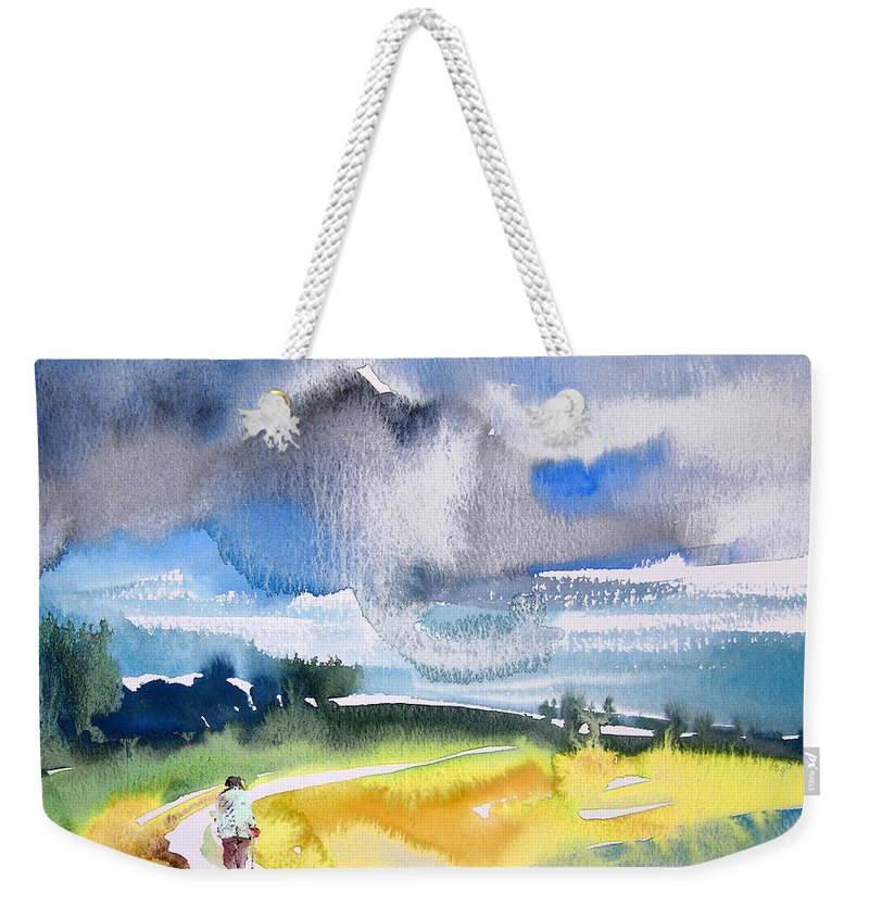 Watercolour Weekender Tote Bag featuring the painting Late Afternoon 04 by Miki De Goodaboom