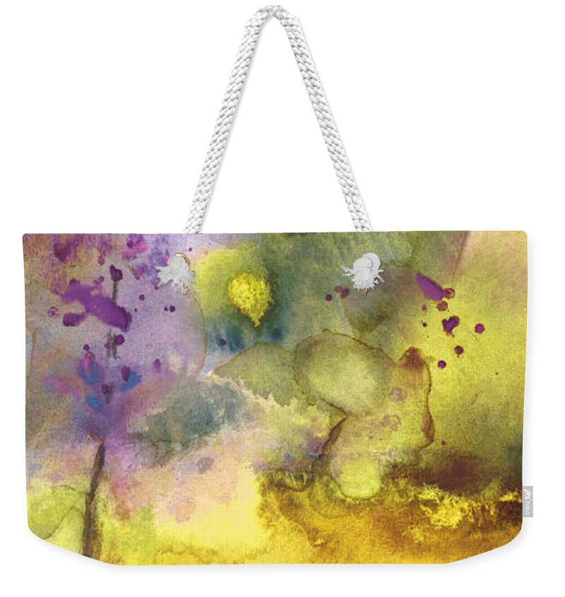 Watercolour Weekender Tote Bag featuring the painting Late Afternoon 13 by Miki De Goodaboom