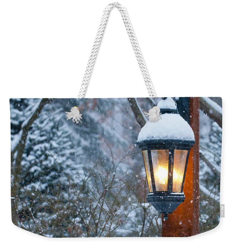 Winterscape Weekender Tote Bag featuring the photograph Late Afternoon Snow by Sandra Bronstein