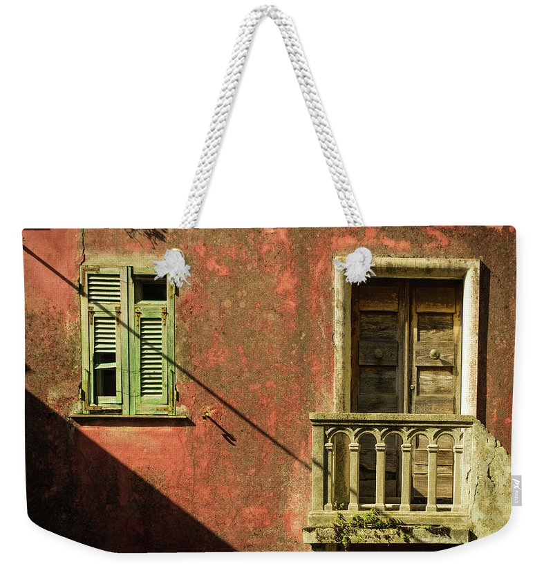 Cinque Terre Weekender Tote Bag featuring the photograph Late Afternoon Stroll Through Legnano by Denise Gallagher