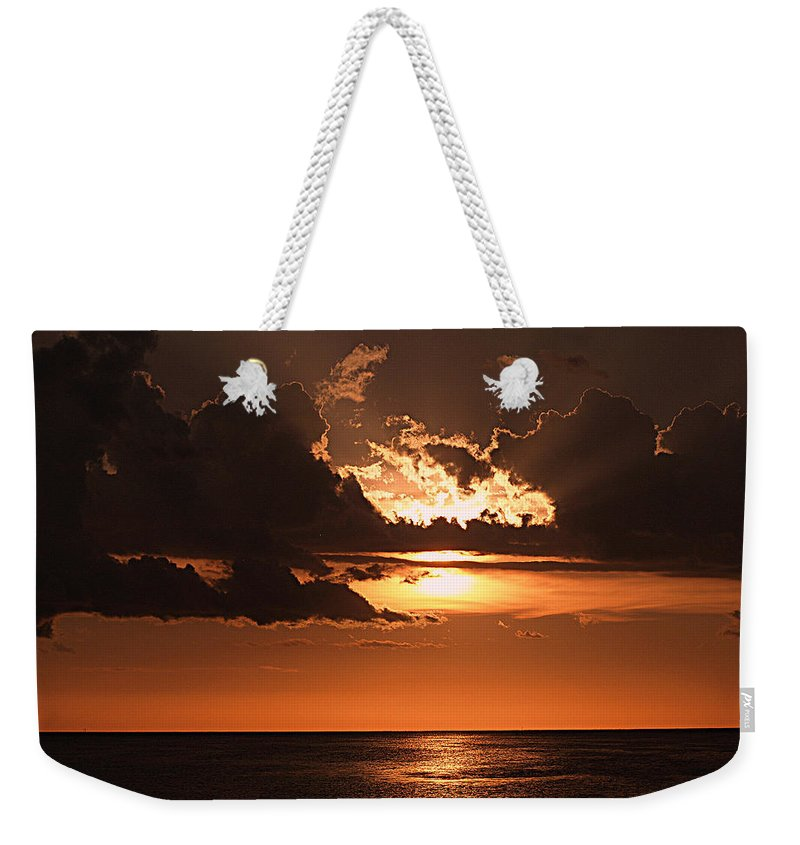 Keaton Beach Weekender Tote Bag featuring the photograph Late In The Day 1 by Bob Johnson