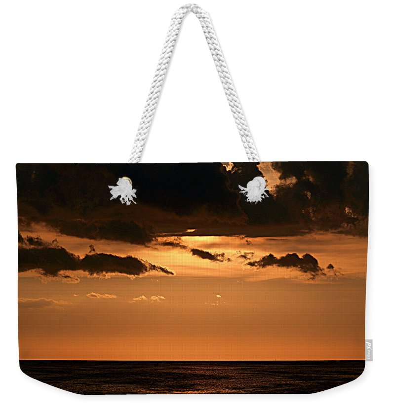 Keaton Beach Weekender Tote Bag featuring the photograph Late In The Day 2 by Bob Johnson