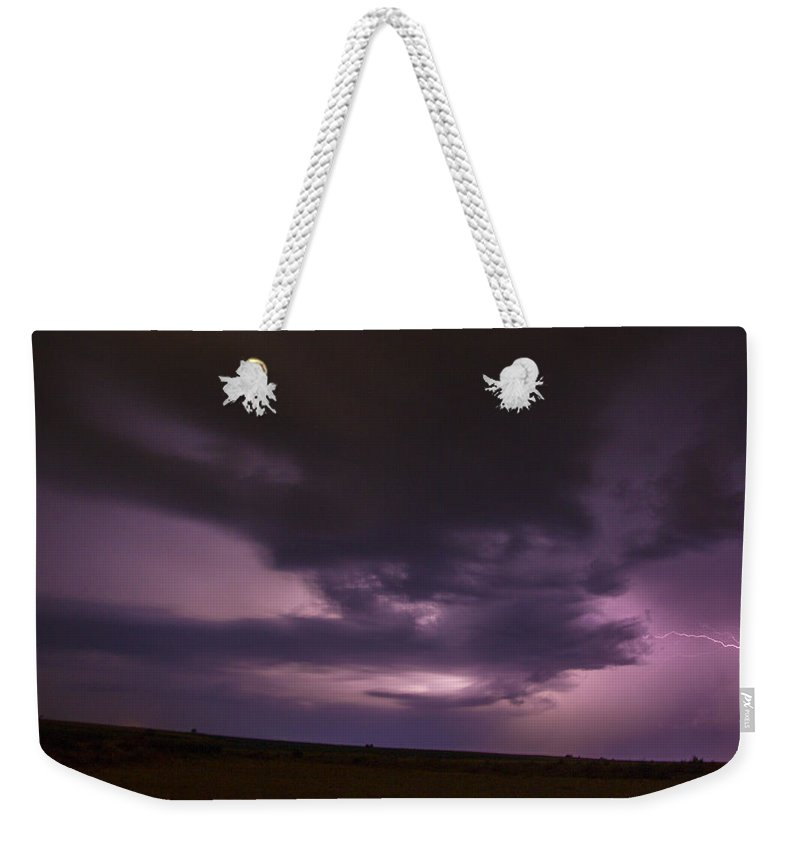 Nebraskasc Weekender Tote Bag featuring the photograph Late July Storm Chasing 028 by NebraskaSC