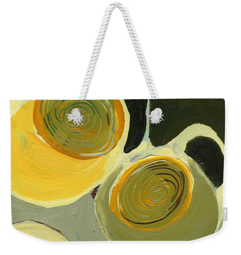 Coffee Weekender Tote Bag featuring the painting Late Night Friends by Jennifer Lommers