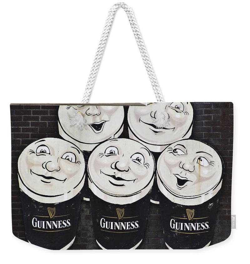 Guinness Weekender Tote Bag featuring the photograph Late Night Guinness Limerick Ireland by Teresa Mucha