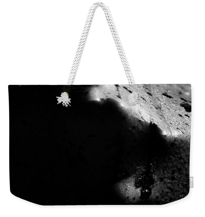 Nude Weekender Tote Bag featuring the photograph Latex Alien by Pavel Jelinek