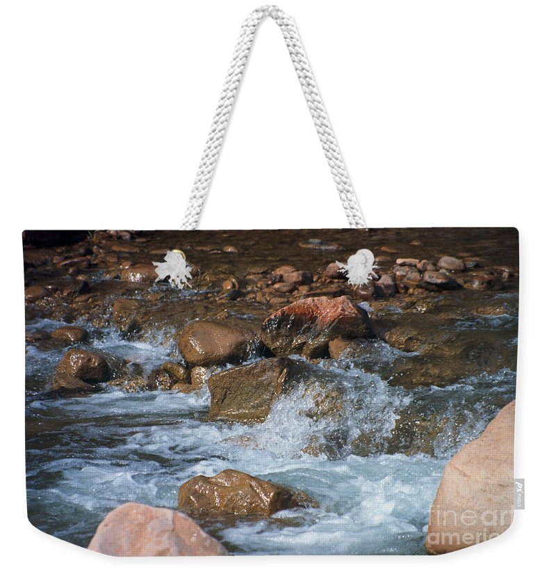 Creek Weekender Tote Bag featuring the photograph Laughing Water by Kathy McClure