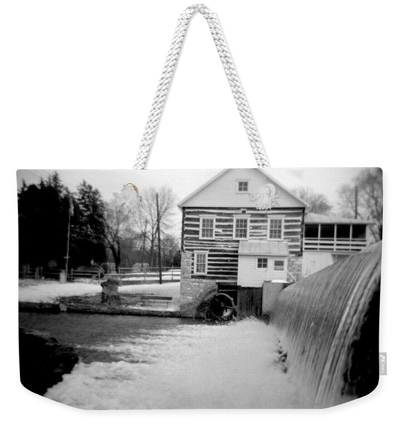 Photograph Weekender Tote Bag featuring the photograph Laughlin Mill by Jean Macaluso