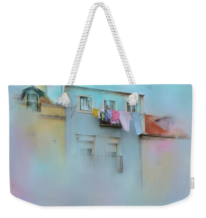 Laundry Weekender Tote Bag featuring the photograph Laundry Day Blues by Carla Parris