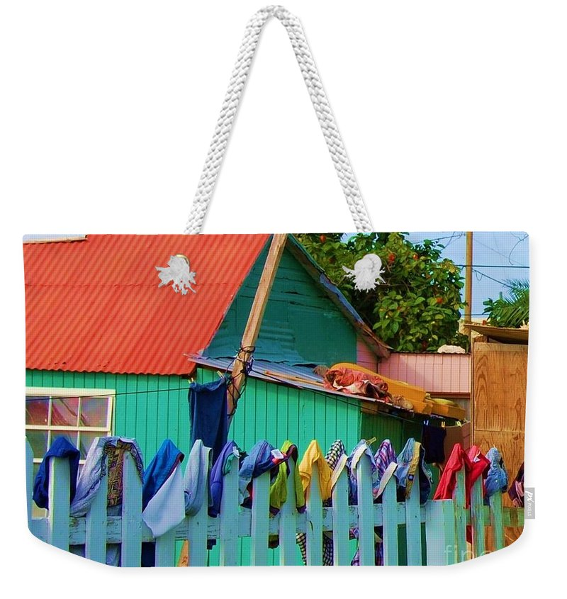 Clothes Weekender Tote Bag featuring the photograph Laundry Day by Debbi Granruth