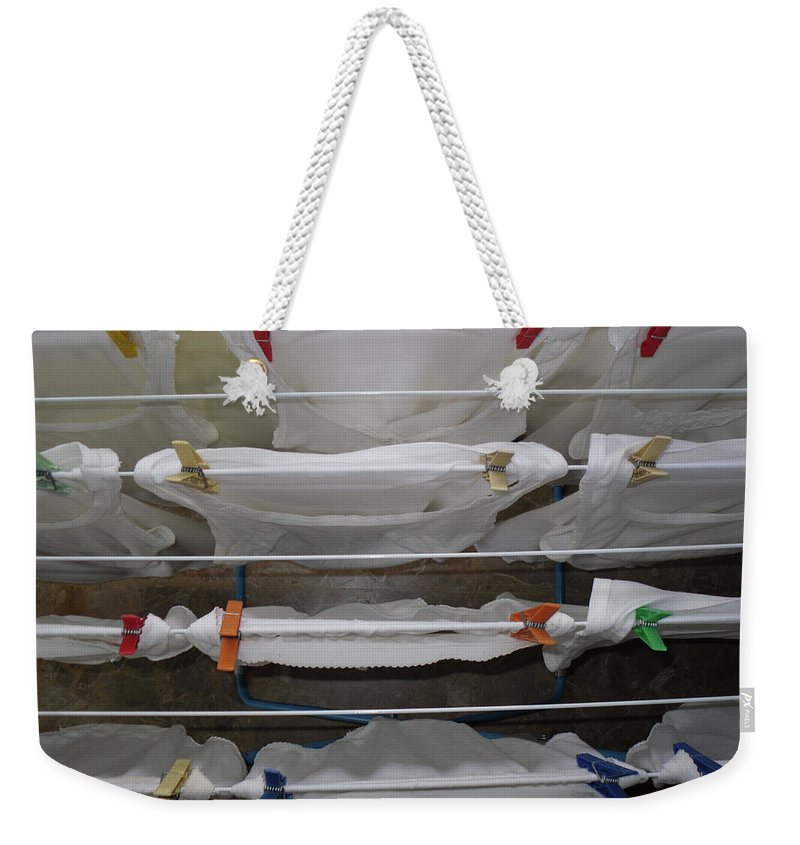 In Art Weekender Tote Bag featuring the photograph Laundry Day by Marwan George Khoury